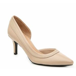 New! Abella Tan Faux Leather Pointed Pumps Heels